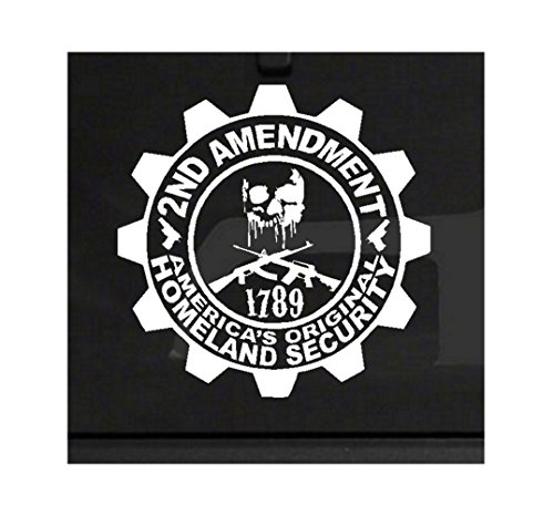 2nd Amendment - America's Original Homeland Security Bumper Sticker Decal Window Laptop Wall Skull Assault Obama Freedom Pro-Gun Stickerciti Brand (Skull Family Window Decals compare prices)