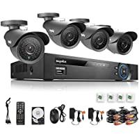 Sannce 8Ch Full 960H DVR with 1TB Hard Drive + 4 HD 900TVL Security Camera System