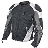 Xelement CF-624 Mens Black/Grey/Light Grey Armored Race Textile Jacket - 5X-Large
