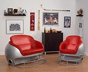 NCAA Ohio State University Football Helmet Leather Lounge Chair by Butt
