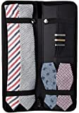 "Travel Essentials Travel Tie Case, Black (16"" X 6"") Cuff Link / Tie Clips Storage"