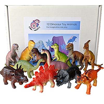 Dinosaur toy plastic figures set of 12 - Large