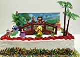 """Dora the Explorer 17 Piece Birthday Cake Topper Set Featuring Figures 1/2"""" to 3"""" Tall Figures Including Dora, Boots the Monkey, Benny the Bull, Isa the Iguana, Swiper the Fox, Dora's Mom Mami, Dora's Grandma Abuela, Senior Tucan, and the Grumpy Old Troll Under the Bridge and Other Themed Decorative Accessories - Cake Topper Set Includes All Items Shown"""