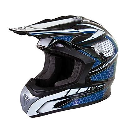 Casque Moto cross Marvin déco Bleu Taille M