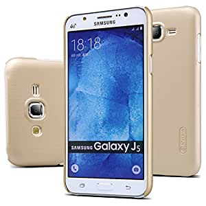 Nillkin Frosted Shield Hard Back Case Cover + Screenguard for Samsung Galaxy J5 [ NOT FOR J5 - 6 ( 2016 ) ] - Gold