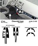 Prewoodec Cockpit Dekor f�r Chevrolet Aveo - ab 07.2011 Galaxy Black (Exklusive 3D Fahrzeug-Ausstattung - Made in Germany)