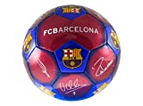 F.C Barcelona - 100% Official Merchandise (Football Signature 1 - Inflated + Free Gift)