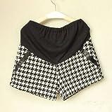 マタニティ 千鳥 ショート パンツ ショーパン フォーマル 妊娠 産前 産後 (XL)