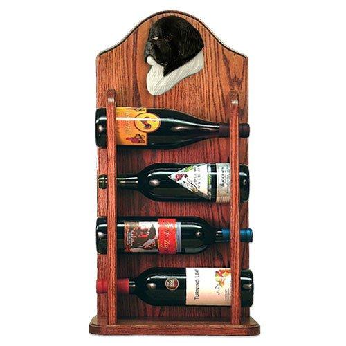 LANDSEER Newfoundland Wine Rack 4 Bottle Design in Dark Oak by Michael Park