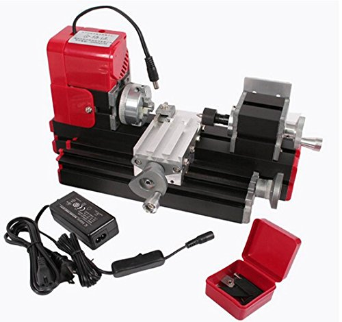 Best Deals! Signswise High Quality Motorized Mini Metal Working Lathe Machine DIY Tool Metal Woodwor...