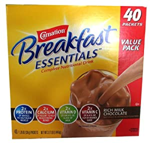 Carnation Breakfast Essentials 40-1.26oz Packets - Rich Milk Chocolate