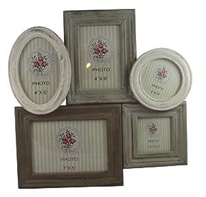 Originals cadre photo style collage avec 5 cadres en bois style ancien amazo - Cadre photo style ancien ...