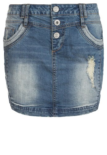 Sublevel Gonna di jeans effetto used | Minigonna di jeans elasticizzato con elementi effetto destroyed