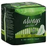 Always Pads, Ultra Thin, Flexi-Wings, Long Super 16 pads