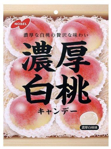 ノーベル 濃厚白桃キャンデー 90g×6個