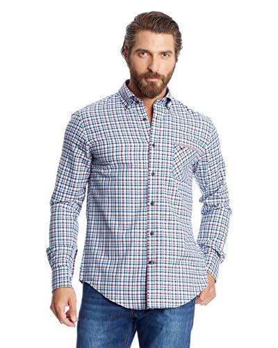 Pedro del Hierro Camicia Casual [Blu/Bordeaux]