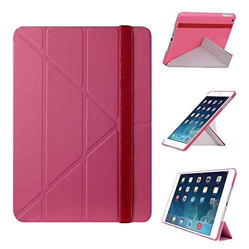 iPad Air Case - OZAKI O!coat Slim-Y 360テ・ツー Multi Angle Smart Case For Apple iPad Air / Portrait and Landscape Adjustable Viewing / Auto Sleep  Wake / 2012 Red Dot Design Award Winner - Pink by Ozaki [並行輸入品]