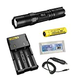 NEW Nitecore P10 Flashlight Tactical Flashlight Three Modes to Select: Law Enforcement/Tactical/General Mode Premium CREE XM-L2 LED Maximum Output of 800 Lumens Crenulated Head Design for Emergency Situation STROBE READY Button for Strobe Mode (Patented) +Nitecore I2 Charger+NL189 3400mAh 18650 Battery+Battery Box+Car Charger(NEW Nitecore P10+i2 Charger+NL189+Car Charger+Battery Box)