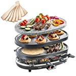 VonShef 8 Person 3 in 1 Raclette Gril...
