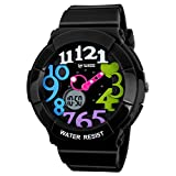 WWISE Very Sweet Cute Colorful Numbers Children Boys Girls Digital Waterproof Watches