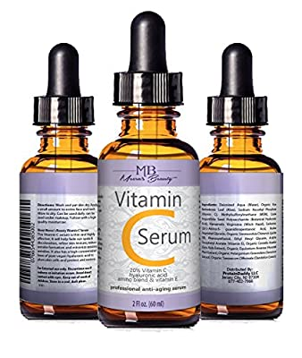 Best Cheap Deal for DOUBLE SIZED (2 oz) PURE VITAMIN C SERUM FOR FACE 20% Pure Vegan Hyaluronic Acid Anti Wrinkle, Anti Aging & Repairs Dark Circles, Age Spots & Sun Damage Vitamin C Super Strength Organic Ingredients by meera's beauty - Free 2 Day Shippi