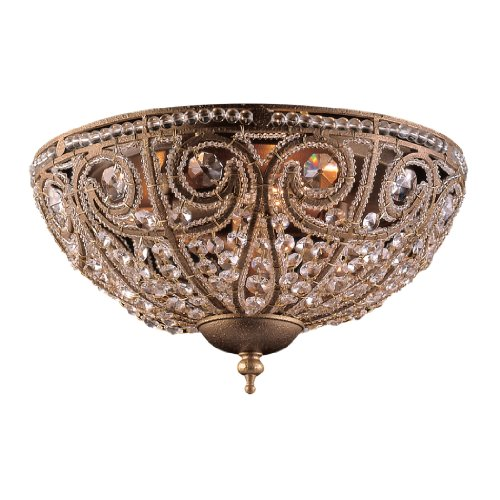 B000JU50YW Artistic LightingElizabethan 3-Light Flush-Mount Ceiling Fixture, Dark Bronze