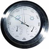 Weathereye WEA27 Stainless Steel Single Case Thermometer/ Hygrometer/ Barometer