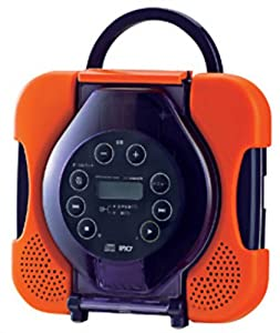 Waterproof CD Player CD Zabady Orange AV-J165OR with Vocal Remover Function for Karaoke