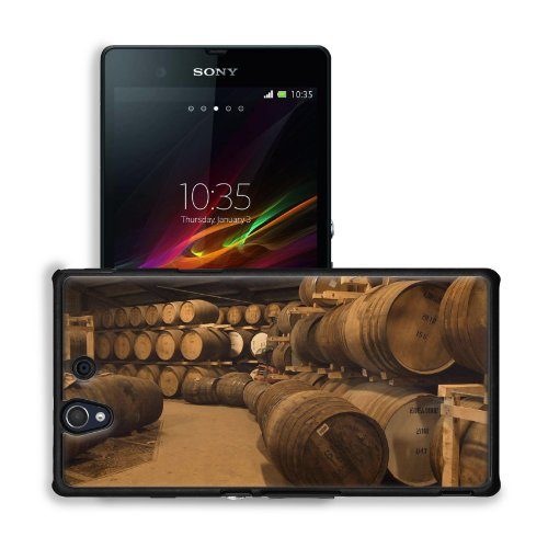 Wooden Wine Barrels Cellar Basement Sony Xperia Z 5.0 C6603 C6602 Snap Cover Premium Leather Design Back Plate Case Customized Made To Order Support Ready 5 4/8 Inch (140Mm) X 2 7/8 Inch (73Mm) X 7/16 Inch (11Mm) Msd Sony Xperia Z Cover Professional Leath front-573979