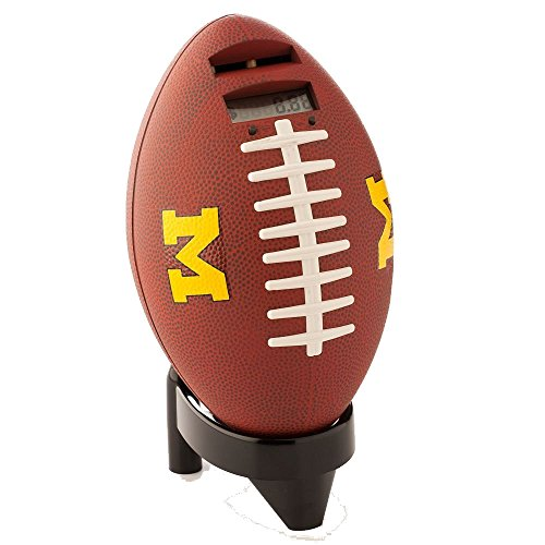Totes Collegiate Football Coin Bank - Plays Sound with Every Deposit - University of Michigan by Tandy - 1