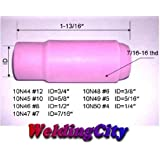 5pcs TIG Welding Torch Alumina Ceramic Cup Nozzles 10N48 #6 for Torch 17, 18 and 26