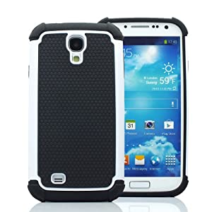 CaseMore White Plastic + Silicon Material Protective Armor Case for Samsung Galaxy S4 S IV i9500