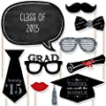Graduation Party - Silver - Photo Booth Props Kit - 20 Count from Big Dot of Happiness, LLC
