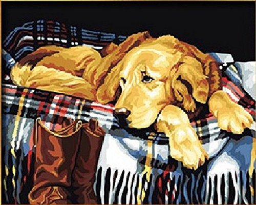 Loyal Friend Lazy dog 16x20 inch Frameless
