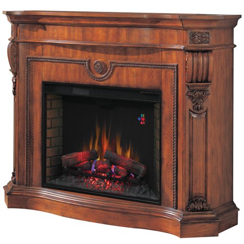 Classic Flame 33 Inch Florence Wall Fireplace - Cherry
