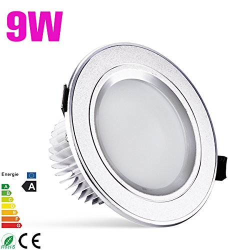 1X 9W Panel Led 5730 Smd Ceiling Downlight Recessed Light Lamp Bulb Warm White