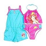 Disney Princess Girls 2-Piece Tankini Swim Suit & Romper