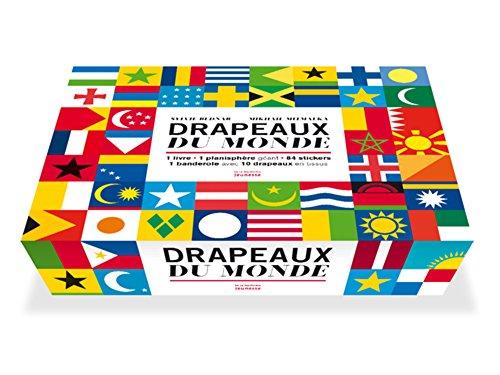 Drapeaux du monde : Avec 1 planisphère géant, 84 stickers, 1 banderole avec 10 drapeaux en tissus