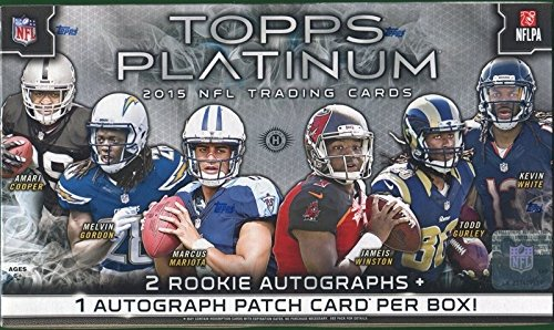 2015 Topps Platinum Football Hobby Box NFL