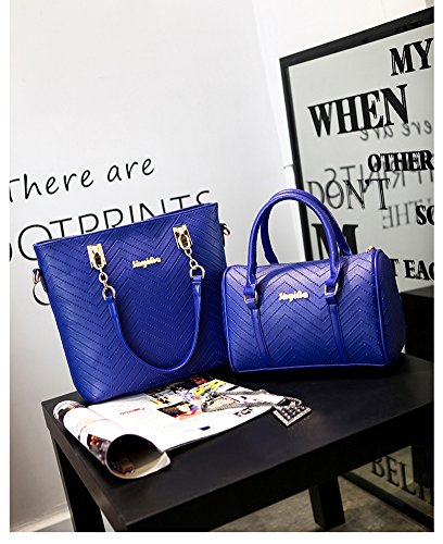 clearance designer handbags p5ys  LaLagen-6PCS-Embossed-Bags-Set-Tote-Messenger-Clearance