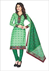 Komal arts Ethnicwear Women's Dress Material GREEN_Free Size