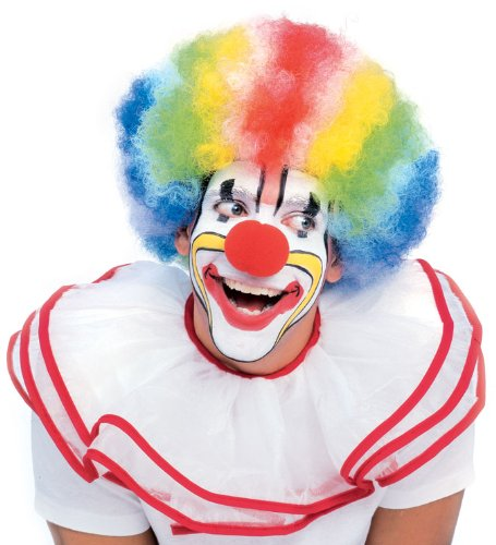 Rubie's Costume Rainbow Striped Clown Afro Wig
