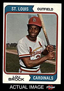 1974 Topps # 60 Lou Brock St. Louis Cardinals (Baseball Card) Dean's Cards 6 - EX/MT
