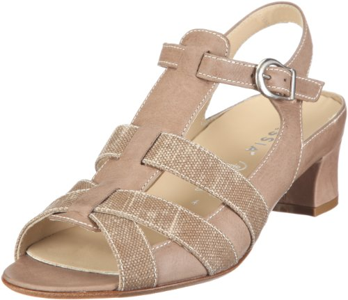 Hassia Siena, Weite H Fashion Sandals Womens Beige Beige/cotton Size: 38 2/3