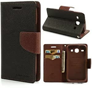 Generic Goospery Mercury Diary Flip Cover for Micromax Canvas Play Q355 (Brown)