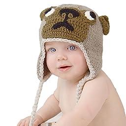 Huggalugs Girls or Boys Pug Puppy Dog Beanie Hat Small (0-6m)