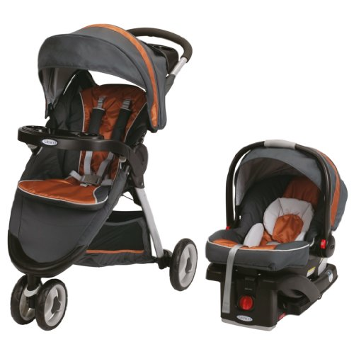 Graco Childrens Products Graco FastAction Fold Sport Stroller Click Connect Travel System, Tangerine at Sears.com
