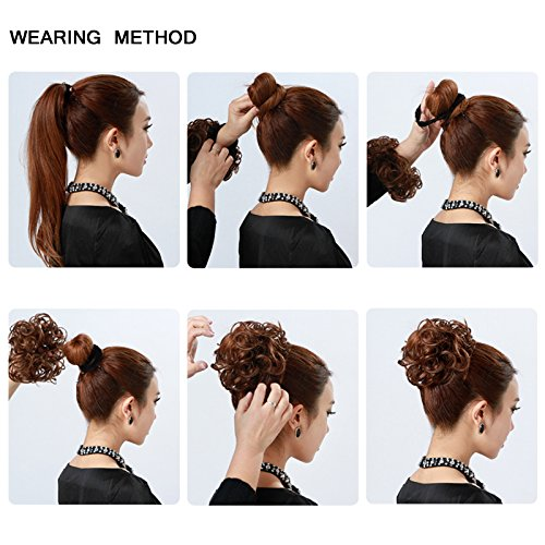 Image result for curly hair pieces scrunchies