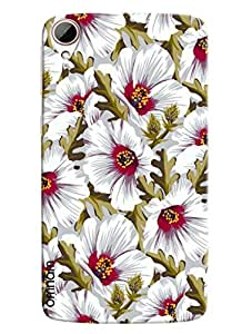 Blue Throat Flowers And Stem Pattern Printed Designer Back Cover For HTC Desire 828