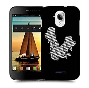Snoogg Two Dogs Designer Protective Back Case Cover For MICROMAX A117